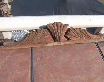Vintage Oak Pediment or Mirror Top