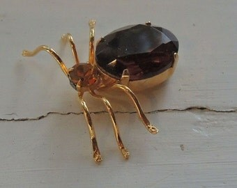 Insect Spider Brooch, 14K Gold Filled Spider Brooch, Adorable  Scatter Pin
