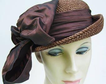 Vintage New York Creation L. Bamberger & Co. Newark Straw Women's Hat