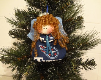 Tennessee Titans fabric angel ornament #2