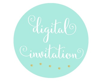 Digital Printable Invitation for ANY Theme in The Shop