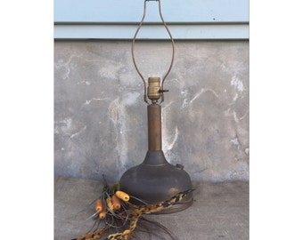 Vintage Table Lamp - Desk Lamp - Accent Lamp - Antique Lamp - Bedside Lamp - Industrial Lighting - Brass Lamp - Lamp - Rustic Decor -