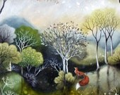 Reserved for Merrie.    Limited edition giclee of Garden at Dawn by Amanda Clark.