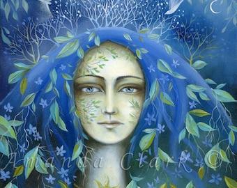 Tree Maiden, Art Print - By Amanda Clark.