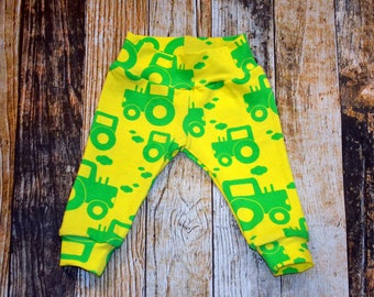 Infant Boy's Little Green Tractor Pants - Can add a Bodysuit Set - Can be Personalized - Coming Home Outfit
