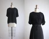 black silk t-shirt