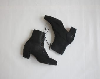 black suede boots size 8 1/2
