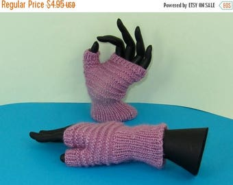 50% OFF SALE Instant Digital File pdf download knitting pattern only-  Simple Stripey Fingerless Gloves pdf download knitting pattern