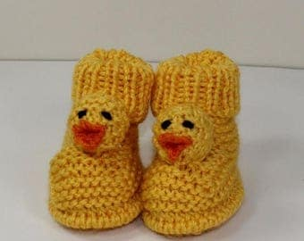 50% OFF SALE Instant Digital File pdf download knitting pattern - Toddler Chick Boots knitting pattern