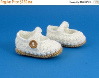 50% OFF SALE Instant digital file pdf download knitting pattern Baby Simple Lacey Sandals  pdf download knitting pattern
