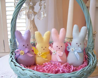 Sweet Little Flannel Peep.....So Cuddly and Soft...Easter Bunny Peep