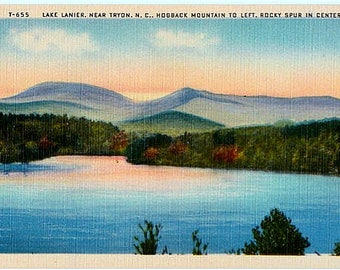 Vintage South Carolina Postcard - Lake Lanier (Unused)
