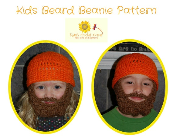 Boys Lumberjack Crochet Pattern, Boys Beard Hat Crochet Pattern, Boys Beard Beanie Crochet Pattern, Child Beard Hat Crochet Pattern
