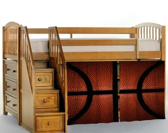 basketball bg texture loft bed curtains custom sizes