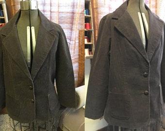 Chocolate corduroy jacket 1970s