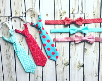 Valentines Ties and Bowties 2017- 6 Different Designs to choose from- Coordinates with all 2017 Valentines Dresses
