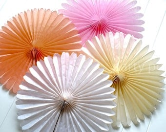"""13"""" Paper Fans party decoration // weddings // birthdays"""