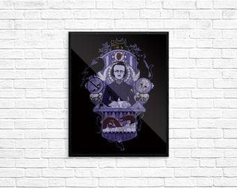 The Haunted Poet - Fine Art Print, 8x10, Series 2, Edgar Allan Poe, Writer, Gothic, Telltale Heart, The Raven, Black Cat, Skulls, Madness