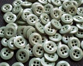 Store Closing - See Shop Announcement for deep discounts!  Deep Seafoam Green Buttons - 1/2 inch - YOU PICK QUANTITY - 50 thru 150