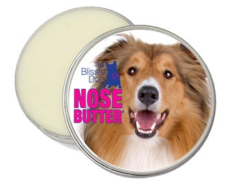 Collie ORIGINAL NOSE BUTTER® Handcrafted All Natural Balm for Dry or Crusty Dog Noses Choice 1 oz, 2 oz or 4 oz tin with Collie Label