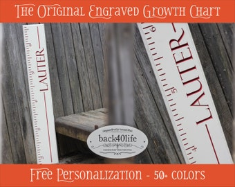 """SALE!! The Stanford - Engraved Wood Ruler Growth Height Chart - 60"""" (GC-60S)"""