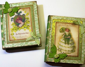Book Box, Irish Decor, Green, Gift Box, St Patricks Day, Irish Eye, Holiday Decor, Treasure Box, Jewelry Box, Keepsake Box, Free Shipping
