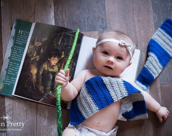 Baby Harry Potter Inspired Scarves Hogwarts House Scarf Ravenclaw Gryffindor Hufflepuff Slytherin Newborn Toddler Costume Photo Prop Cosplay