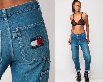 Tommy Jeans TOMMY HILFIGER Denim Pants Boyfriend High Waist Jeans 90s Jeans Mom Jeans Tapered Baggy Vintage Hipster Medium