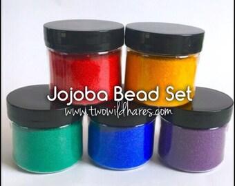 Jojoba Beads Set, 5 Colors, 1 oz each