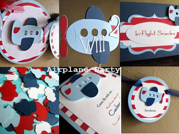Airplane birthday party package airplane party pack for 1st birthday decoration packages