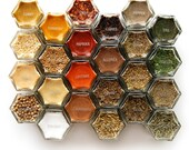 """SPICE JAR LABELS. Clear 1"""" Round Stickers of the Most Common Spice Names. Choose Black or Silver/White Type."""