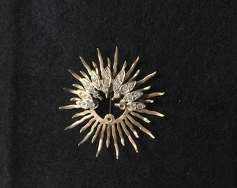 Vintage Rhinestone Starburst Pin