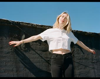 Cropped Grid Blouse! 50% of Proceeds Benefit Planned Parenthood