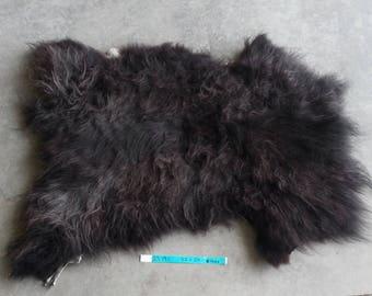 Sheepskin- Black Medium Wooled Sheep Hide Lot No. 25191TURQ
