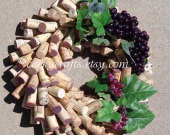 Mothers Day Sale Wine Cork Wreath - table centerpiece, housewarming gifts, wine gifts, unique one of a kind gift