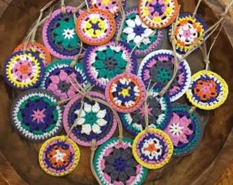 Set of 20 Crochet Adornments