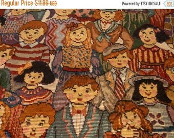 ON SALE International Tapestry Fabric~Heavy Dense Colorful Tapestry~Great Bag Fabric~Pillow Fabric