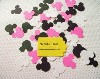 Minnie Mouse Confetti - Mickey Mouse Birthday Decor  - Mickey Confetti - Mickey Mouse Baby Shower - Mickey Party