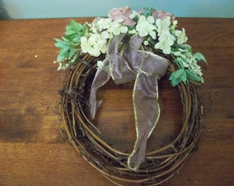 vintage hand made wreath  multi purpose