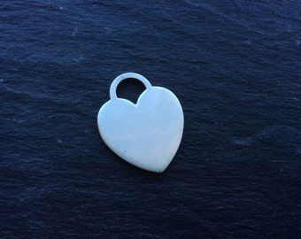 Sterling silver heart pendant Italy