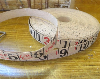 vintage linen tape measure, 2 yards of measuring tape, measurement tape, tape measure, 2 yards, vintage linen tape, Rustic measuring tape