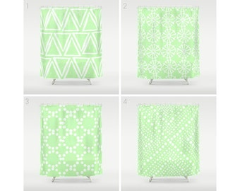 Green Shower Curtain Etsy