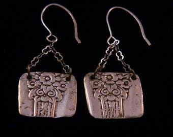 Designer Sterling Silver Earrings from Vintage Silverware with Custom Sterling Silver Ear Wires, DE36