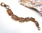Vintage Copper Thunderbird Link Bracelet
