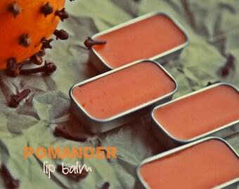Organic Pomander Lip balm. Orange Clove lip balm. Limited Holiday edition!