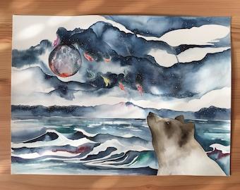Original Watercolour 11x15 'Artemis'