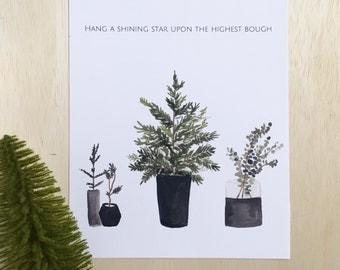 Highest Bough watercolor print