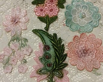 Hand Dyed Floral Applique Kit