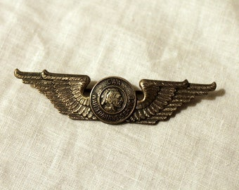 Sterling CAA War Training Service Instructor Wing Pin Badge - WWII - 1940s