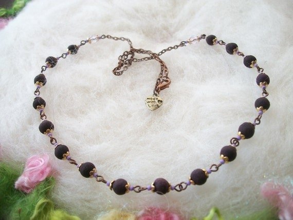 rose petal bead necklace fragrant handmade rose petal bead